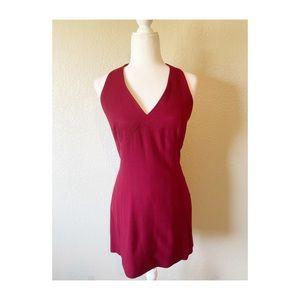 Bebe Red Halter Dress
